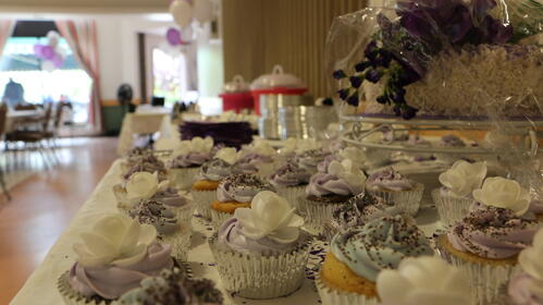 Wedding cupcakes at Maine Veterans' Homes