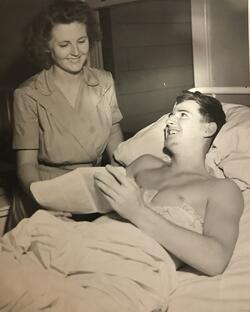 Hollis recovering in 1944