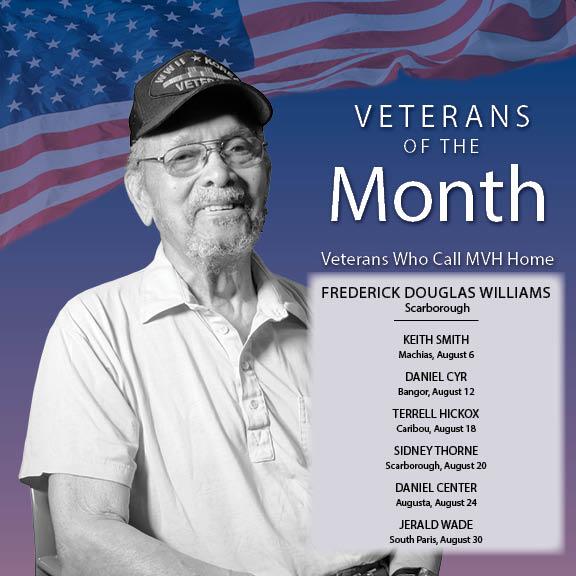 Veteran of the Month Schedule